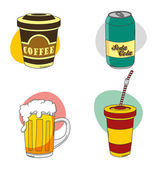 Drink compilation — Stock Vector