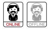 Online operator — Stock Vector