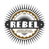 Label rebel — Stock Vector