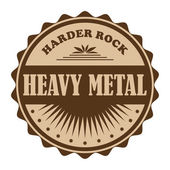 Badge heavy metal — Stock Vector