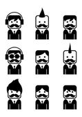 Mustache guy theme — Stock Vector