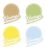 Editable label sticker vintage — Vector de stock