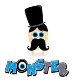 милый монстр — Cтоковый вектор