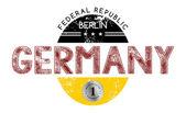 Germany National label — Cтоковый вектор