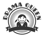 User picture drama queen — Vector de stock