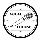 Vocal course — Stock Vector