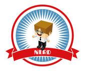 Nerd character — Stock Vector