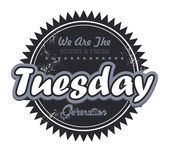 Tuesday tag — Stock Vector