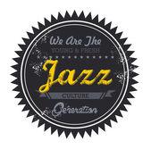 Jazz music genre — Stock Vector
