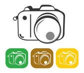 Camera button set — Vector de stock