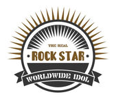 Label of rock star — Stock Vector