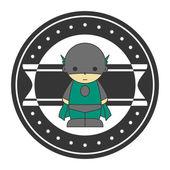 Superhero avatar — Stock Vector