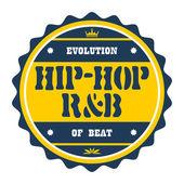 Badge hip hop — Stock Vector