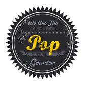 Pop music genre — Stock Vector