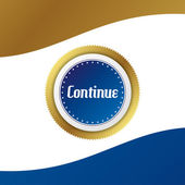 Continue round sticker — Stock Vector