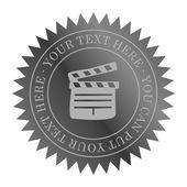 Movie label art — Stock Vector