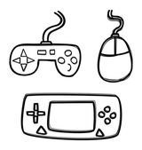 Game icon set — Stock Vector