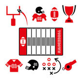 Football of america — Stock Vector