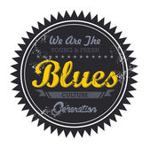 Blues music genre — Stock Vector