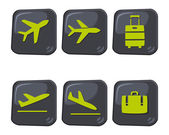 Travel icon airport — Vector de stock