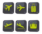 Travel icon airport — Stock Vector