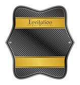 Plate invitation — Vector de stock