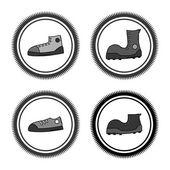 Shoe label — Stock Vector