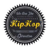 Hip hop music genre — Stock Vector