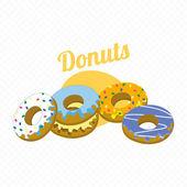 Retro Look Donut — Stock Vector