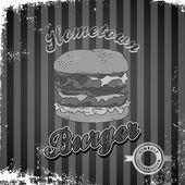Theme of hamburger — Stock Vector