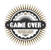 Label of game over — Stock Vector