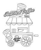 Koffie stand — Stockvector