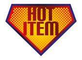 Hot item sign — Stock Vector