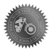 Motorcycle label art — Vetorial Stock