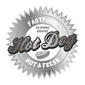 Hot dog fast food capture theme — 图库矢量图片
