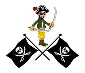 Pirate cartoon character — Stock Vector