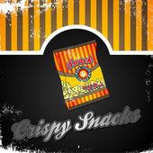 Snack vintage art — Stock Vector