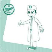 Lekarz medycyny — Wektor stockowy