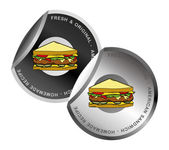 Sandwich label — Stock Vector