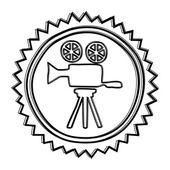Movie icon roll — Stock Vector