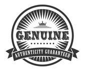Genuine sticker — Stock Vector