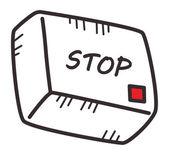 Media button stop — Stock Vector