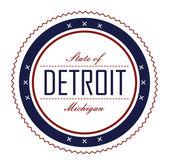 Label detroit — Stock Vector