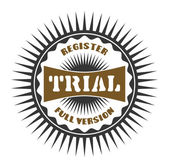 Label trial — Stock Vector
