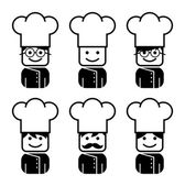 Chef avatar collection — Vector de stock