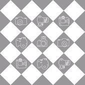 Camera set art — Stock Vector