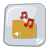 Icon my music — Stock Vector