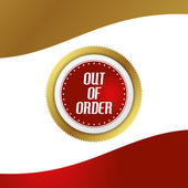 Out of order — Stock Vector