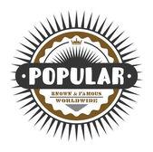 Label popular — Stock Vector