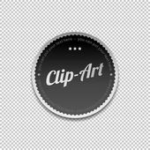 Art clip art label — Stock Vector